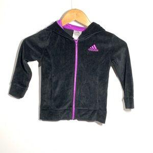 Adidas fleece athletic zip up sweatshirt